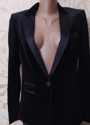 Бархатный  брендовый пиджак