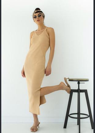 Вязаные платья с v-образным вырезом