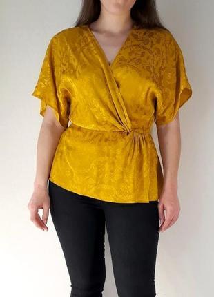 💯 натуральная горчичная блуза на 46 размер от monsoon