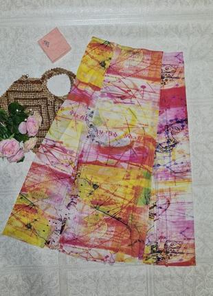 Супер легкая летняя яркая длинная юбка