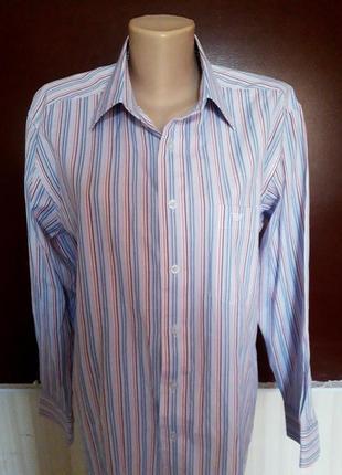 Крутая фирменная мужская рубашка полоска батал georgio armani оригинал