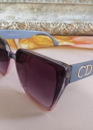 Эксклюзивные брендовые с двухцветной линзой солнцезащитные женские очки 2021