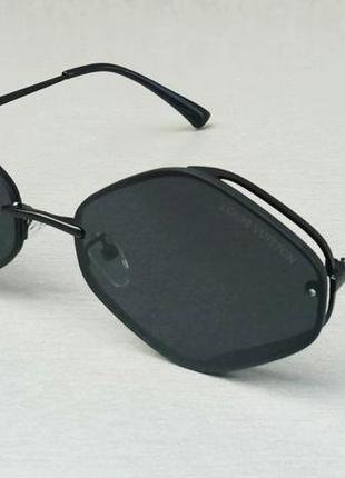 Louis vuitton очки унисекс солнцезащитные модные черные в черной металлической оправе
