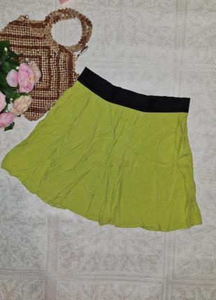 Салатовая летняя юбка