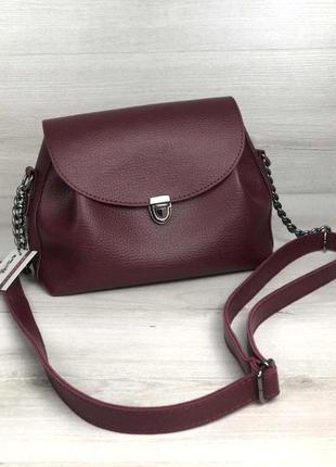 Молодежная компактная сумка клатч aliri-563-07 бордового цвета