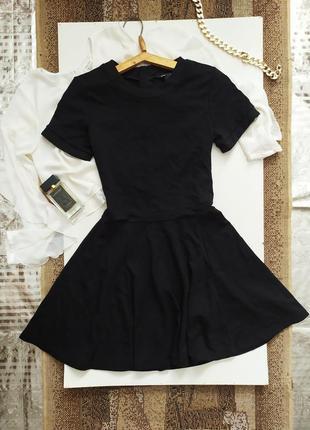 Платье / сукня / юбка клёш солнце / маленькое чёрное платье / базовое