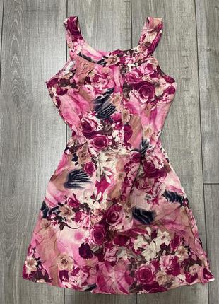 Платье летнее, сарафан, принт цветочный