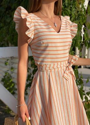 Шикарное платье лен 4 цвета