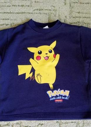 Кофта, свитер для мальчика с рисунком pokemon