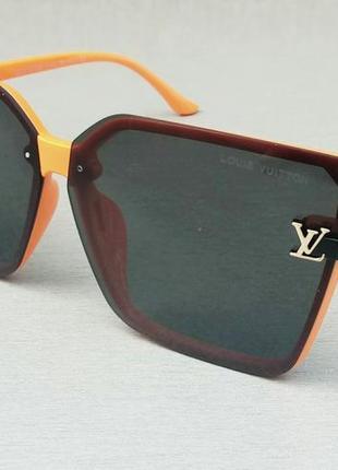 Louis vuitton очки женские солнцезащитные большие модные черные в оранжевой оправе