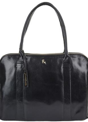 Шикарная большая сумка ashwood насыщенного чёрного цвета