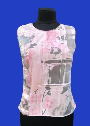 Jcv jocavi испания майка розовая тай дай дизайнерская с вставками шёлк