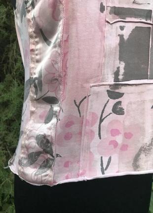 Jcv jocavi испания майка розовая тай дай дизайнерская с вставками шёлк8 фото