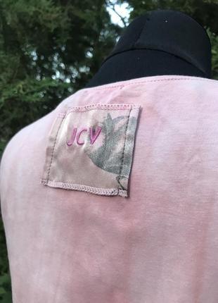 Jcv jocavi испания майка розовая тай дай дизайнерская с вставками шёлк7 фото