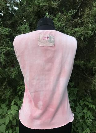 Jcv jocavi испания майка розовая тай дай дизайнерская с вставками шёлк2 фото