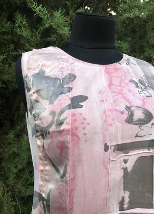 Jcv jocavi испания майка розовая тай дай дизайнерская с вставками шёлк4 фото