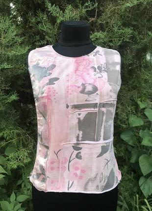 Jcv jocavi испания майка розовая тай дай дизайнерская с вставками шёлк5 фото