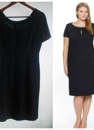 Платье, классика, офисный стиль, сзади с пуговицами