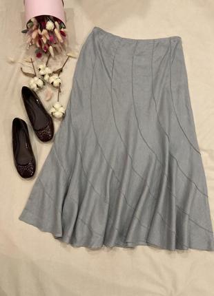Лен 100% льняная юбка per una в стиле zara boohoo
