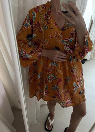 Платье рубашка хлопковое туника пляжная платье лёля