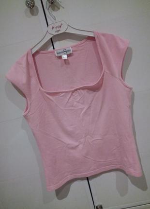 Нежно -розовая футболочка