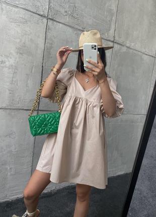 Платье летнее мини короткое свободное оверсайз женское легкое