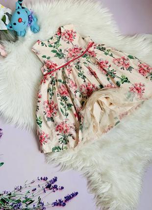 Нарядное красивое платье m&s малышке 1-1.5 года