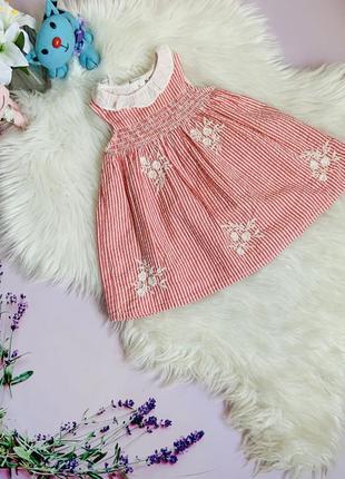 Красивое платье nut mag малышке 6-9 месяцев