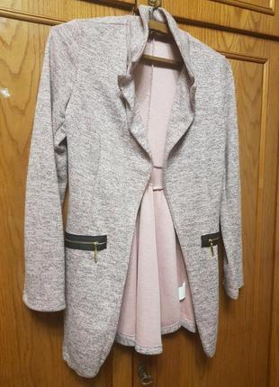 Пиджак жакет кардиган накидка кофта италия меланж с-м