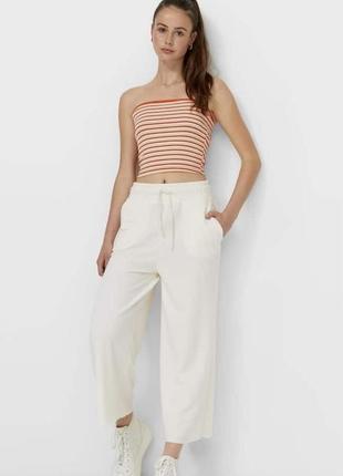 Трендові широкі штани stradivarius