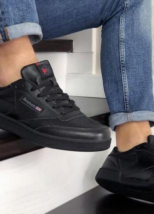 Reebok workout classic мужские чорные кеды, кроссовки, чоловічі кросівки, кеди