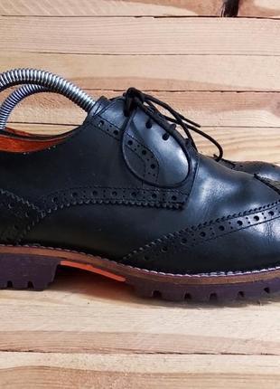 Стильные туфли броги натуральная кожа португалия