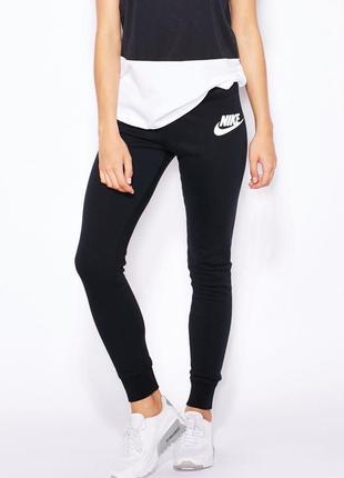 Новые чёрные спортивные штаны джоггеры nike rally pant tights