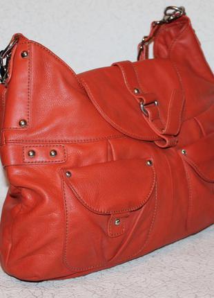 Большая кожаная сумка barr+barr new york