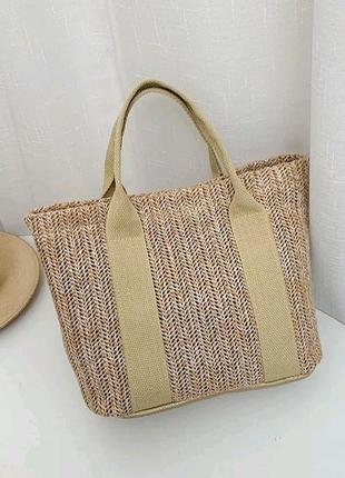 Плетена стильная сумка топ