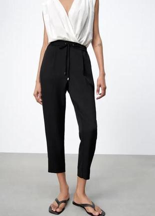Чорні штани з еластичним поясом, zara! оригінал, з португалії!