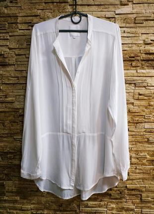 Шикарная белоснежная блуза / тончайшая вискоза