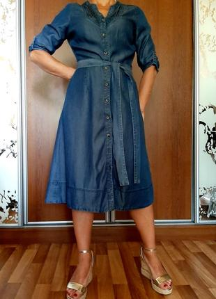 Базовое платье из денима из 100% лиоцела