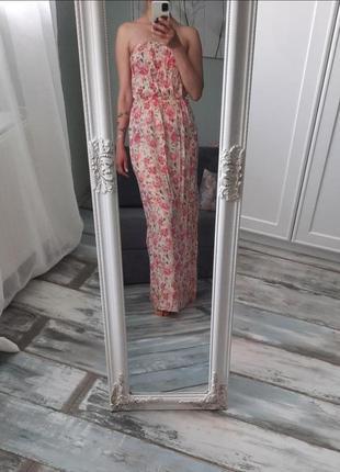 Сарафан в пол с цветочным принтом new look. размер s-m.
