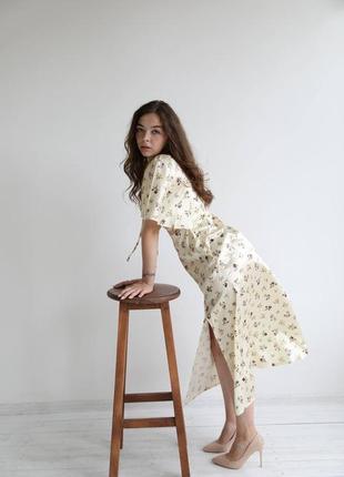 Вечернее кремовое платье зара сарафан топ и юбка сукня