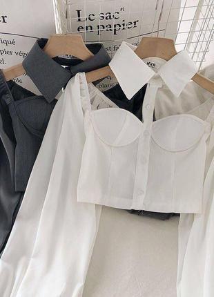 🦉 блузки бюстьє з чокером 🦉  6819