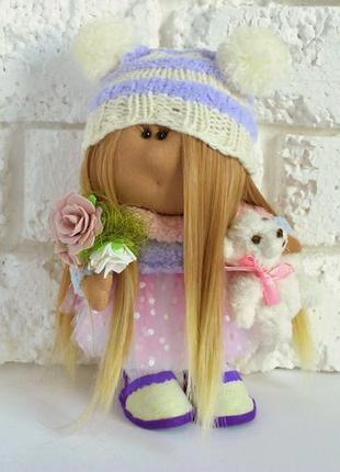 Декоративная кукла с мишкой красивые куколки ручной работы