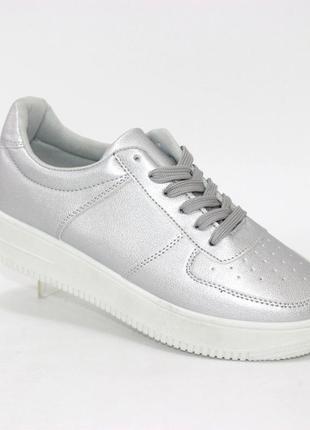 Кроссовки на шнурках ra356-silver бренд: