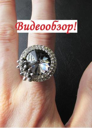🏵️эксклюзивное кольцо цветы с кристаллом, 18 р., новое! арт. 606