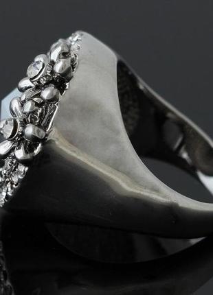 🏵️эксклюзивное кольцо цветы с кристаллом, 18 р., новое! арт. 6066 фото