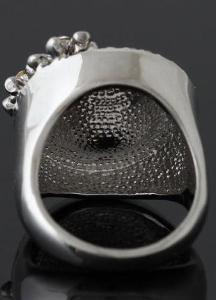 🏵️эксклюзивное кольцо цветы с кристаллом, 18 р., новое! арт. 6067 фото