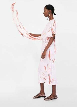 Платье с узлом от zara