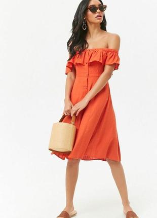 Натуральное платье бренда forever21