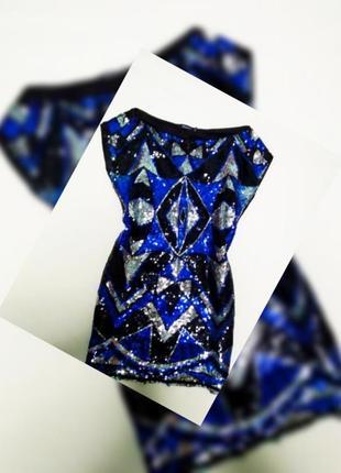 Блестящее платье-футболка