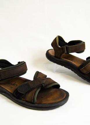Clarks мужские кожаные сандали босоножки оригинал! р 44 29 см